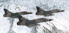 Indian Air Force - Mirage 2000 formation over the Himalayas